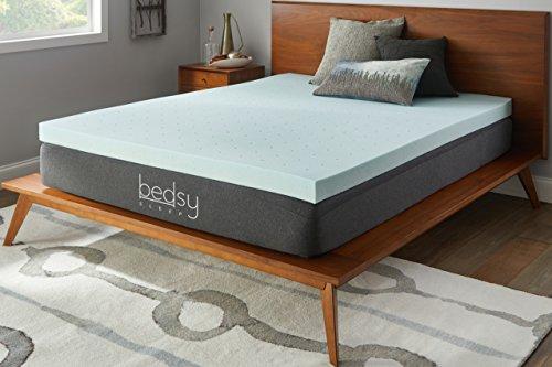 """Bedsy Sleep 3"""" Gel Memory Foam Mattress Topper, Soft, Queen"""