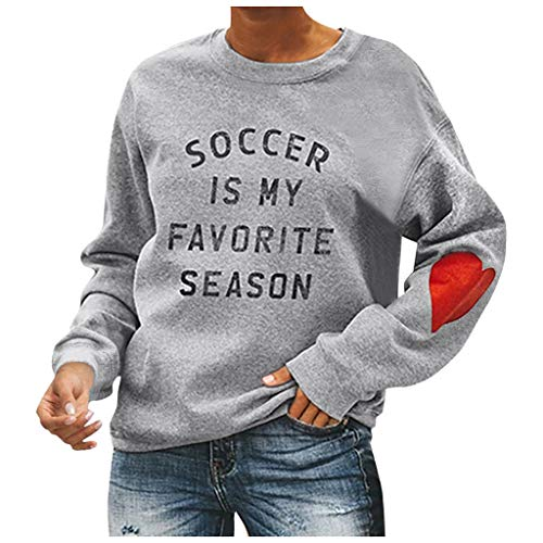 KUDICO Sweatshirt für Damen,Weihnachten Schneeflocke Print Pullover Oberteile,Christmas Langarm Rundhals Freizeit Jumper Bluse(D, L)