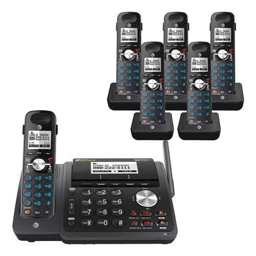 AT&T TL88102BK 2-line answering System with 5 Handsets (TL88002BK) Black