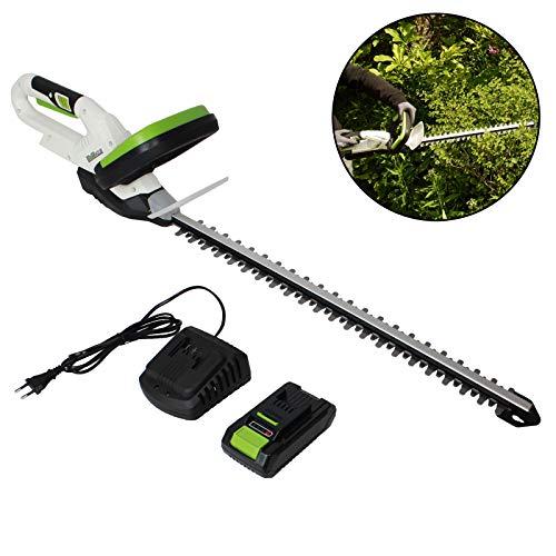 TrutzHolm® Akku Heckenschere 20V/2.0Ah mit Akku und Schnellladegerät Schnittlänge 520 mm Zahnabstand 14 mm