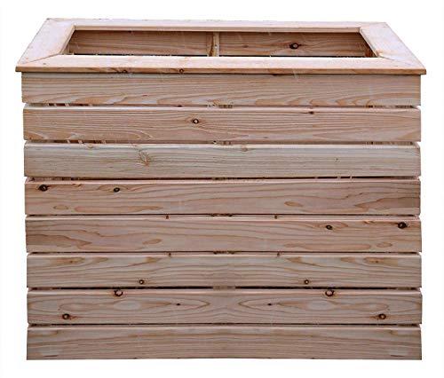 Gartenpirat Hochbeet schmal 80x40 cm und 71 cm hoch aus Lärche unbehandelt
