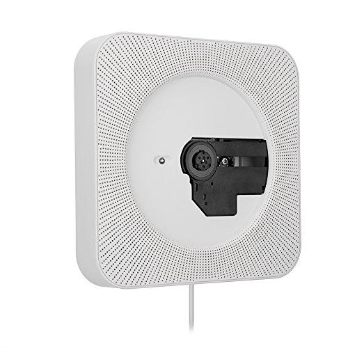 Richer-R Reproductor de música, portátil montado en la pared Control remoto Bluetooth CD Reproductor de MP3 La radio FM con enchufe...