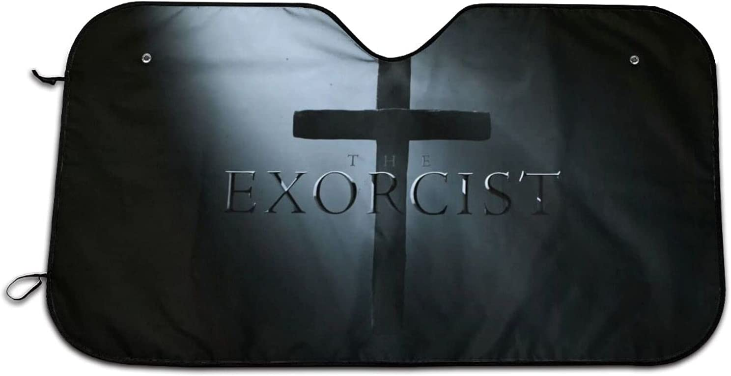 The E-Xorcist Horror Movie Car Snow Special price for a limited time Visor Sunshade Printing Ranking TOP5