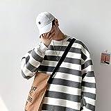 GUOYANGPAI Sudadera Casual de Color de Contraste de Moda para Hombre, Sudaderas con Capucha Sueltas de Hip Hop...