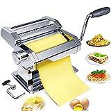 Pasta Maker Maschine Nudelmaschine Handkurbel - Edelstahl Rollschneider Manuelle Nudelhersteller Herstellung von Werkzeugen Rollpresse Kit Küchenzubehör Am besten für hausgemachte Nudeln Spaghetti