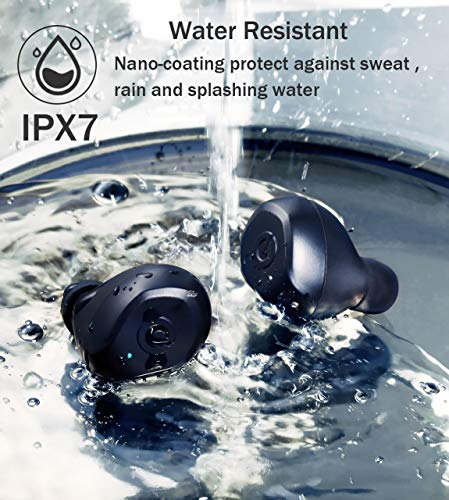 [Upgrade] True Wireless Earbuds,Bluetooth Earphones Bluetooth 5.0 Earbuds IPX7 Waterproof Headphones Auto Pairing in-Ear Stereo 90H Cycle Play Time Wireless Headset with 3350mAh Charging Case 2