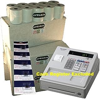 eposbits® marca 100rollos + 5x de tinta para Sharp XE-A107XEA-107XEA107blanco caja registradora