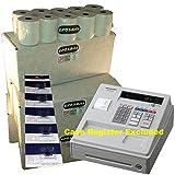 EPOSBITS® Marca 100 rollos + 5X tinta para Sharp XE-A107 XEA-107 XEA107 blanco caja registradora