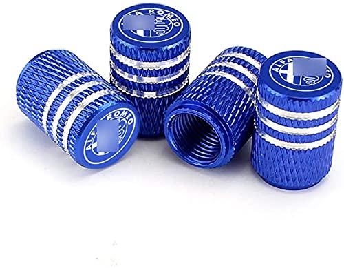 4 piezas/juego de tapa de válvula de polvo de rueda Alfa Romeo Giulietta Spider Mito 147 156 159, piezas de repuesto para tapa de aire de neumático con decoración