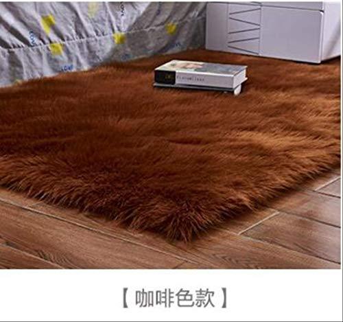 Axnx Tapijten, de vorm Is eenvoudig en royaal tapijt/zitkussen, plain tapijten, wasbaar, huishoudtextiel, 60 x 120 cm, bruin
