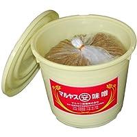 マルヤス味噌 無添加麦味噌(白) つぶ(粒)タイプ タル詰 10kg