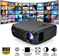 """WIKISH Full Hd 1080P Native Projector 5500 Lumen Support 200"""" Display Zoom Lcd Led Home Outdoor Movie Projector for Tv Box Ps4 Laptop Dvd Player by WIKISH"""