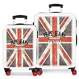 Pepe Jeans World Set di valigie 68 centimeters 104 Multicolore (Multicolor)