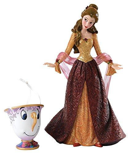 Disney Showcase Collection Christmas Belle Figurine, Stein, Multi, 12 x 10 x 20 cm