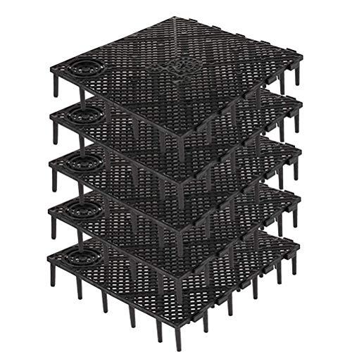 POPETPOP Aquarium Bodenfilterplatte PVC Spleißen Kombination Clapboard Bodenfilter (Schwarz)