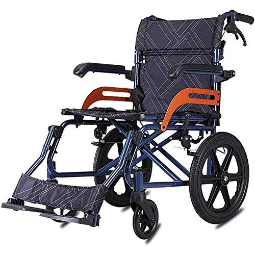 SUYUDD Leichter Klappbarer Selbstfahrender Rollstuhl Mit Hochklappbaren Armlehnen Reiserollstühle Mit Klappbarer Handbremse