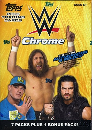 2015 Topps CHROME WWE Wrestling EXCLUSIVE Factory Sealed Retail Box with Special HULK HOGAN Tribute! Look for Autograph,Relic & Kiss Cards of WWE Superstars including Jon Cena, Triple H & Many More!