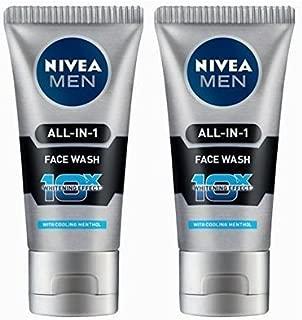 2 Pack X Nivea Men All in 1 Face Wash 10X Whitening Effect and Nivea Men Dark Spot Reduction Moisturiser