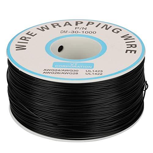 Kupferlitze, hochtemperaturbeständiger verzinnter Kupferdraht 0,25 mm, 30 AWG Leiterlitzen aus verzinntem Kupferdraht (schwarz)
