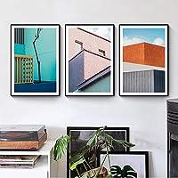 抽象的な現代のファッションポスターとプリントキャンバス絵画リビングルームの家の装飾のためのPOPウォールアートの写真40x60cmx3フレームなし