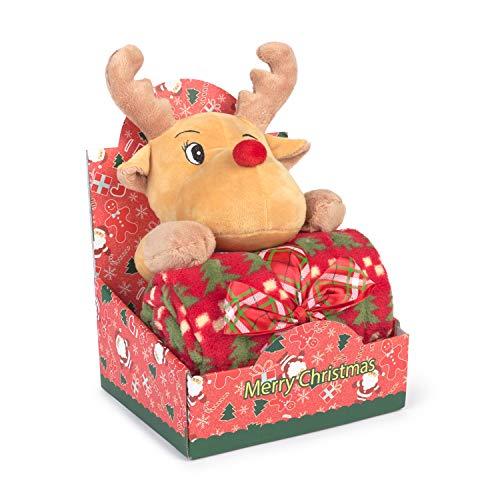 Muñeco Peluche Navidad Reno Manta CHRISTMAS RENO