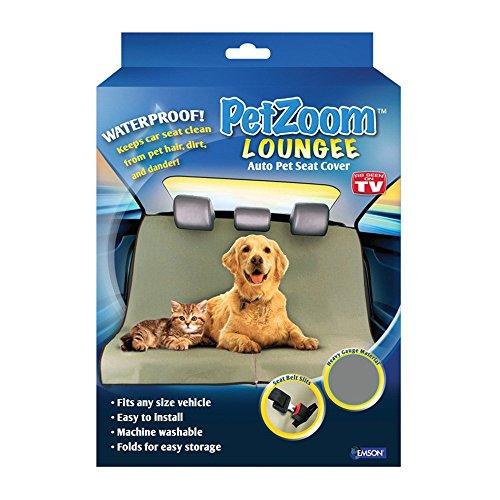 Pet Zoom Loungee - Funda impermeable para asiento de mascota para perros y gatos, color negro