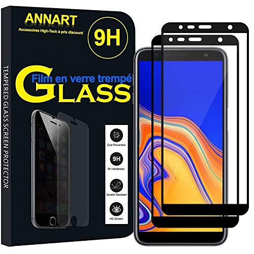 """ANNART Protecteur d'écran Samsung Galaxy J6+/ J6 Plus (2018) 6.0"""" [2 Pièces] Film Protection écran en Verre trempé pour Samsung Galaxy J6+/ J6 Plus (2018) 6.0"""" - Noir"""