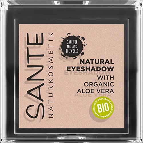 Sante Naturkosmetik Natural Eyeshadow 01 Pearly Opal, Lidschatten Matte Farbnuance, Bio-Extrakte, Vegan, 1,8g