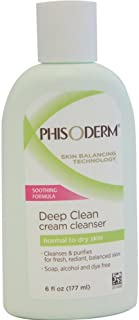 Phisoderm Deep Clean Cream Cleanser For Normal To Dry Skin 6 oz ( Pack of 3)