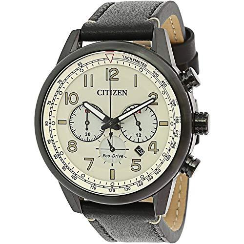 Citizen Eco-Drive CA4425-10X reloj de cuero negro para hombre