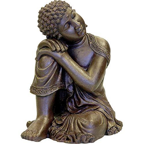 Rosewood Ornamento de Acuario de Budda de Descanso
