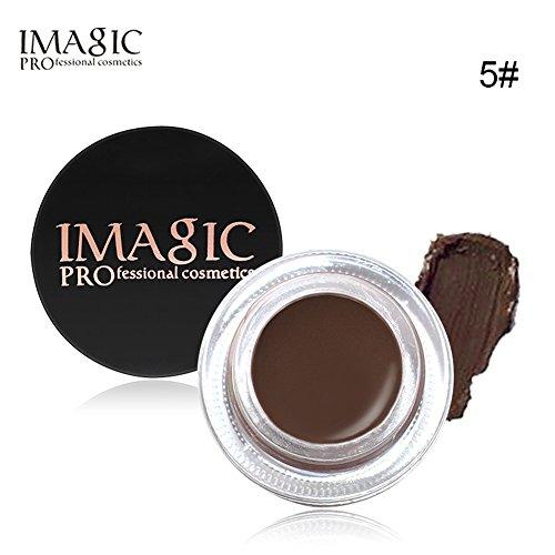 Imagic 6 colores maquillaje gel de cejas a prueba de agua Cosméticos de belleza gel de cejas de larga duración con cepillo(#5)