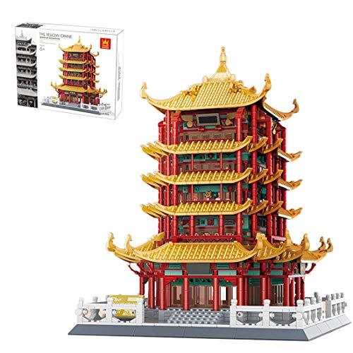 CYGG Arquitectura Ancient Tower Building Blocks, 2912 Piezas Juego de construcción de casa Modular China, Compatible con Lego