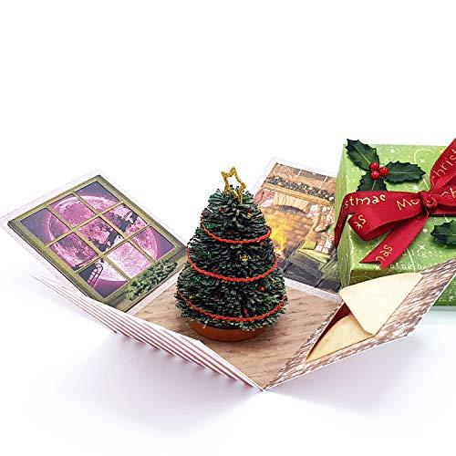 3D Miniature - Originale Biglietto Di Auguri Natalizio - Ottimo Regalo Di Natale Economico - Segnaposto Per La Tavola - Particolare Come Piccolo Dono - Fatto A Mano Di Carta