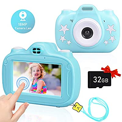Aleath Kids Camera, 3 Inch HD Touch Screen Seflie Camera for Kids, 1080P IPS Shockproof Rechargeable Child Video Camcorder with 32GB TF Card, Best Birthday Gifts for Boys and Girls Age 3-9 from Shenzhen Yuanzhichuang Industrial Co., Ltd.