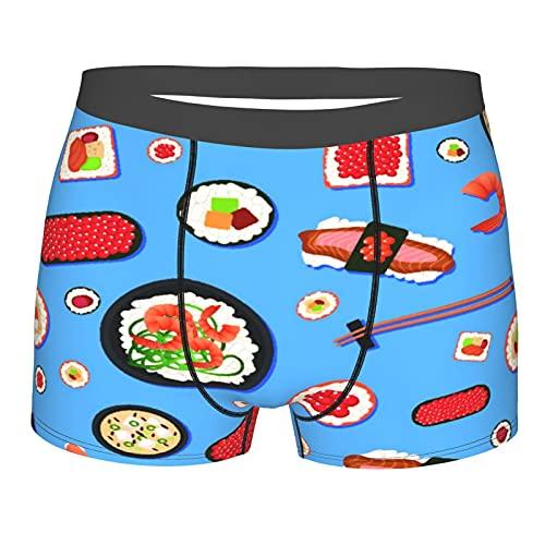 sous-vêtements pour Hommes,Sushi de Nourriture Japonaise d'appétit, Boxer Taille du caleçon Confort Respirant L