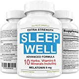 Neuropathy & Diabetic Sleep Support - Recover Faster with Extra Strength Sleep Formula - 10 Scientifically Proven Ingredient to Help Nerve Pain Relief, Insomnia, Stress & Anxiety - 6 mg Melatonin