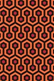 Overlook Hotel Retro Carpet Hexagon Pattern Horror Movie Spooky Scary Halloween Decoration Cool Wall Decor Art Print Poster 24x36