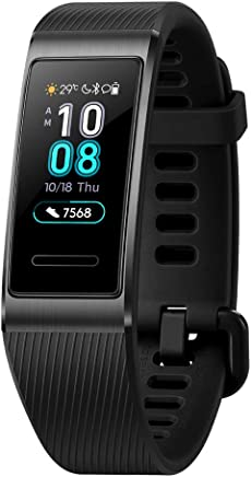 Huawei Band 3 Pro All-in-One Fitness Activity Tracker, 5ATM Water Resistance Swim, 24/7 Heart Rate Monitor, Built-in GPS, Multi-Sports Mode, Sleep Tracking, Black, One Size