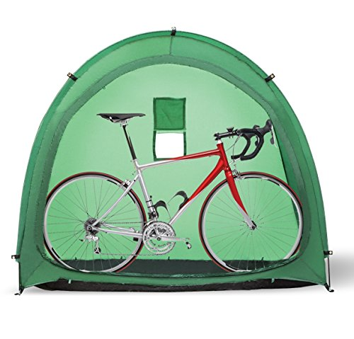 Wealers Outdoor Weatherproof Portable Garage Shed Bicycle Storage Tent, Space Saver, Garden Storage and Pool Storage (Green)