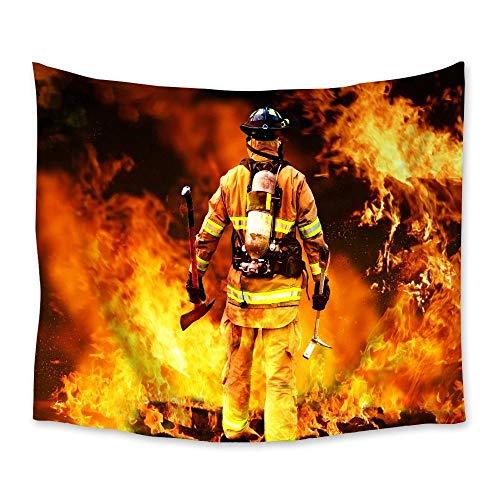 Tapiz de bomberos tapices para colgar en la pared, tapiz de decoración para el hogar, sala de estar, dormitorio, arte de pared, esterilla de yoga 150x200cm