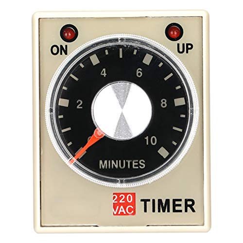 Relé temporizador de retardo, relé de tiempo AH3-3, 220VAC 6/10/30/60 minutos Temporizador de retardo de encendido(10M)