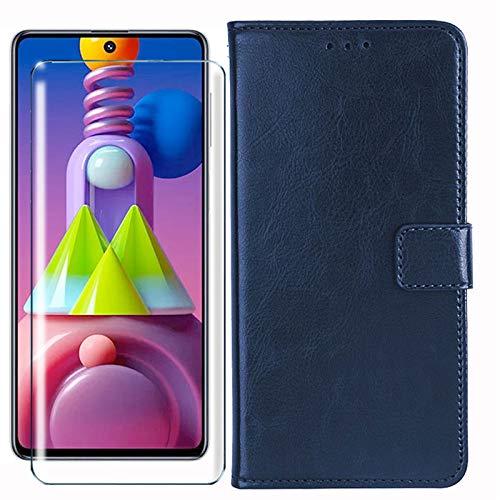 HYMY Hülle für ZTE Axon 11 4G - Retro Elegant + Schutzfolie PU Leder Flip mit Brieftasche Card Slot Handyhülle Hülle Lederhülle für ZTE Axon 11 4G - Brown