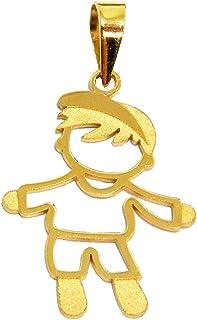 Pingente Em Ouro 18k Menino Boné Grande