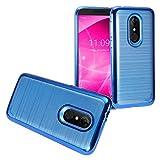 Z-GEN - Compatible with T-Mobile REVVL 2 (5.5') REVVL2 5052W - Eletroplated TPU Brushed Hybrid Case - BM4 Blue