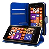 ECENCE Nokia Lumia 630/630 Dual SIM / 635 Custodia a Portafoglio Protettiva Wallet Case Cover 41020304