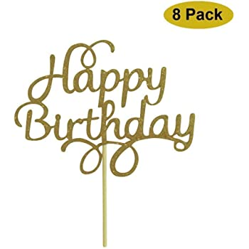 Posh Peanut Happy Birthday Cake Topper First Birthday Cupcake Topper Cake Smash Candle Alternative Party Handmade in The USA with The 791689115696