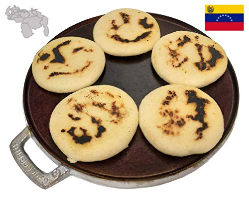 """GauchogrillX Budare Pre-Curado 10.5"""" (26cm). Arepa Griddle Pre-Seasoned Hecho en Venezuela"""