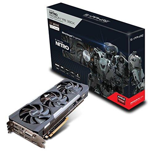 Sapphire NITRO Radeon R9 390X Scheda grafica, 8 GB GDDR5, PCI-Express 3.0, Nero