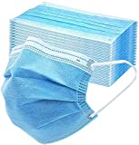 QJMDM Disposal Face Mask, Protective 3-Ply Comfortable Nose/Mouth Coverings for Home & Office, 3 Ply Earloop Protective Face Mask for Adults/Kids - Pack of 50